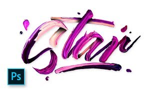 Typography Design - Paint Text Effect Photoshop - Photoshop Tutorial Indonesia