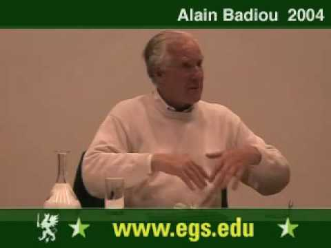 Alain Badiou. Political Perversion and Democracy. 2004 11/12