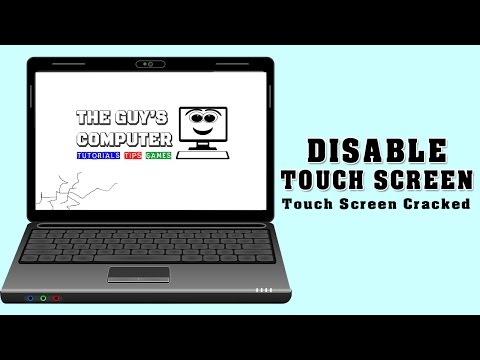 How To Disable Touch Screen In Windows Laptop  ( My Windows 10 Touch Screen Is Broken)