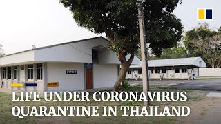 Scenes from a Thai government Covid-19 quarantine facility: barracks living, but great Thai food