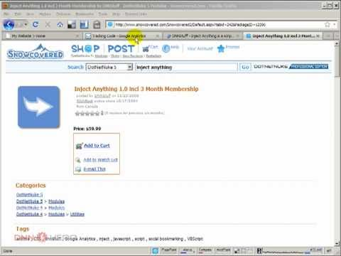 Inject Html, Javascript, Css, Text Or Anything Else In Your DotNetNuke Pages - Video #184