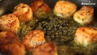 Scallops in Caper Cream Sauce recipe