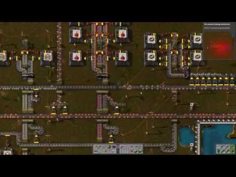 "Factorio Alpha 0.10.8 Gameplay | Rocket defense ""rush"" #21"