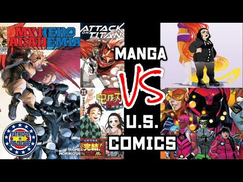Manga Is Taking Over US Comic Book Sales, And For Good Reason! American Comics Have Become Garbage!