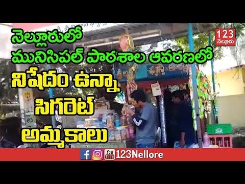 నిషేధం ఉన్నా యధేచ్ఛగా సిగరెట్ల అమ్మకాలు | Cigarettes Selling near Municipal School Nellore
