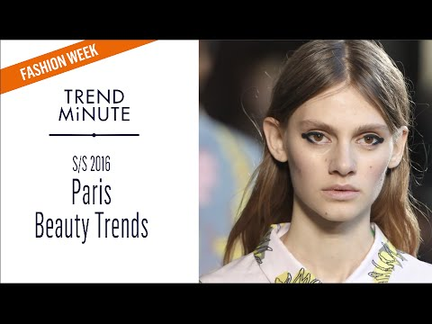 Trend Minute: Paris S/S16 Beauty Trends