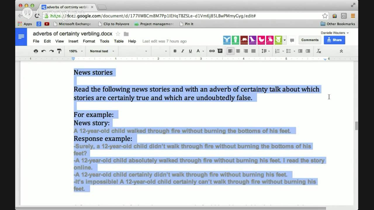 Adverbs Of Certainty Part 2 Youtube