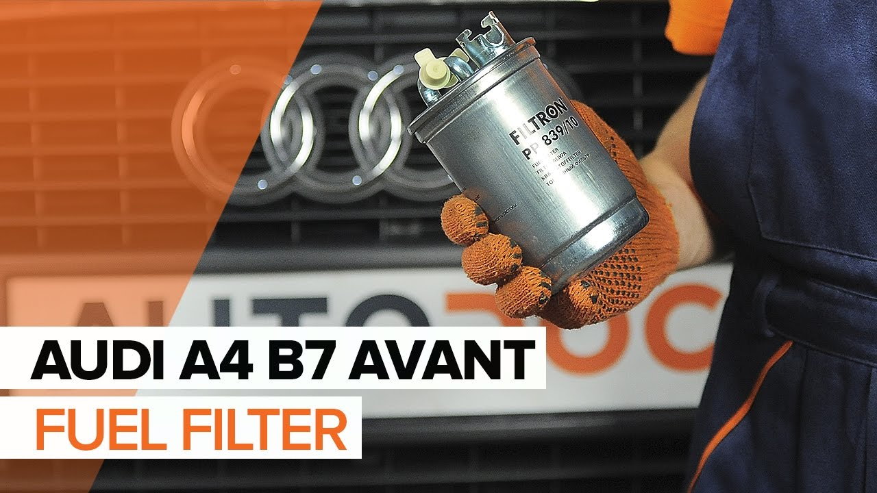 How to replace a fuel filter on AUDI A4 B7 AVANT TUTORIAL | AUTODOC