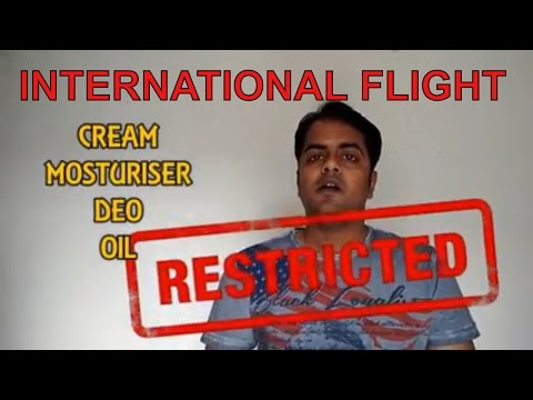 These Items Not To Take In International Flight [In Hindi]