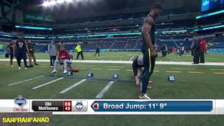 Obi Melifonwu | 2017 NFL Combine 40 Yard Dash + All Drills | NFL Highlights HD