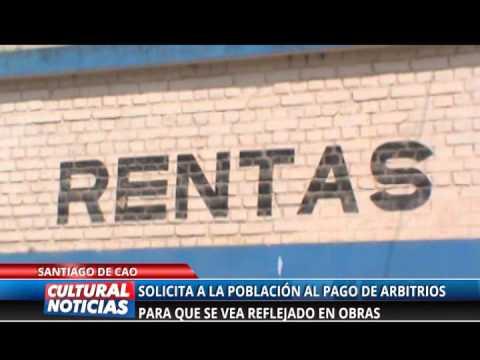 Alcalde de Santiago de Cao solicita a la población que pague sus arbitrios