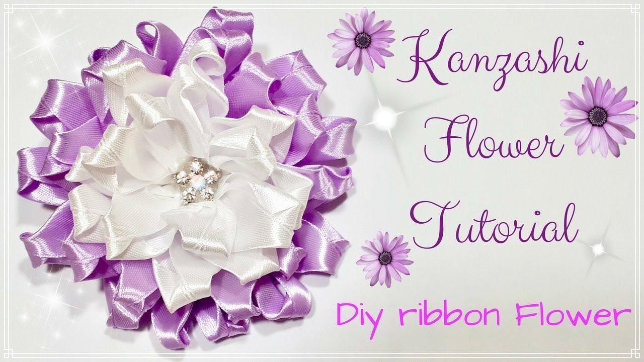 Fiori Kanzashi Tutorial.Diy Kanzashi Flower Fiore Di Nastro Tutorial How To Make