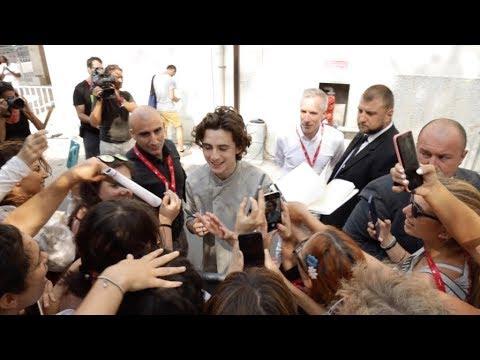 Lily Rose Depp, Timothee Chalamet at Venice Film Festival