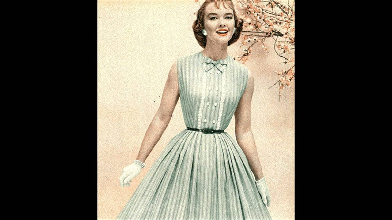 adf8096313ae Fashion in the 1950s Clothing Styles Trends Pictures - YouTube