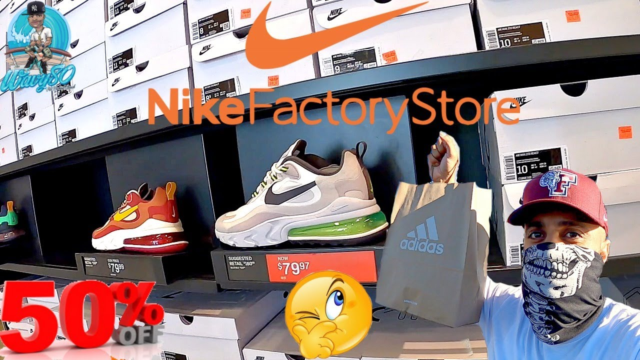 exceso golondrina De trato fácil  NIKE FACTORY OUTLET STORE SHOPPING AT NEW YORK WOODBURY COMMON   OVER 50%  OFF AT ADIDAS & UNBOXING - YouTube