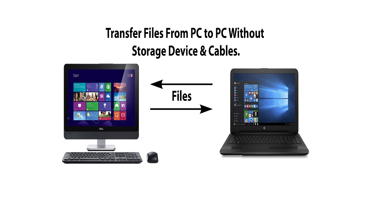 Transfer Files Between Computers Without LAN Cable or Any Storage