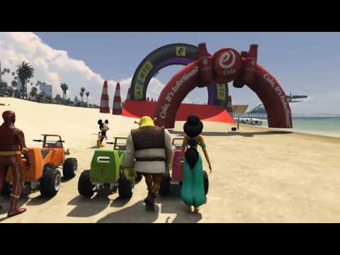 Thumbnail: LEARN COLORS Little Cars Jumping Beach SUPERHEROES for Children