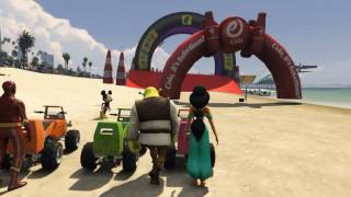 Repeat youtube video LEARN COLORS Little Cars Jumping Beach SUPERHEROES for Children