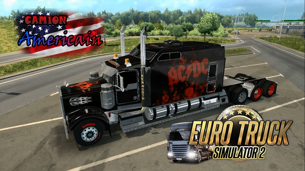 Euro truck simulator 2 le camion americain sans chance for Camion americain interieur