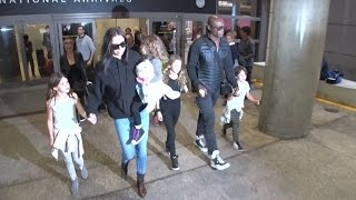Seal And Erica Packer Nearly Run Into Heidi Klum At LAX