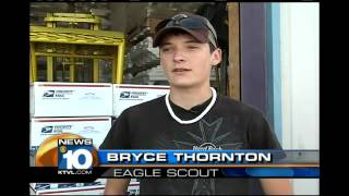 A local Eagle Scout helps troops overseas