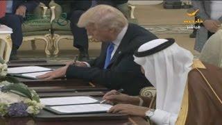 الملك سلمان يوقع الرؤية الاستراتيجية السعودية الأمريكية المشتركة ويشهد توقيع اتفاقيات أخرى