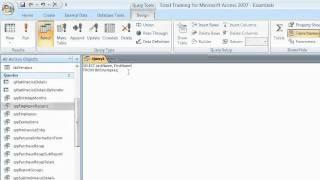 Microsoft Access 2007: إنشاء الاستعلامات العمل في طريقة عرض SQL