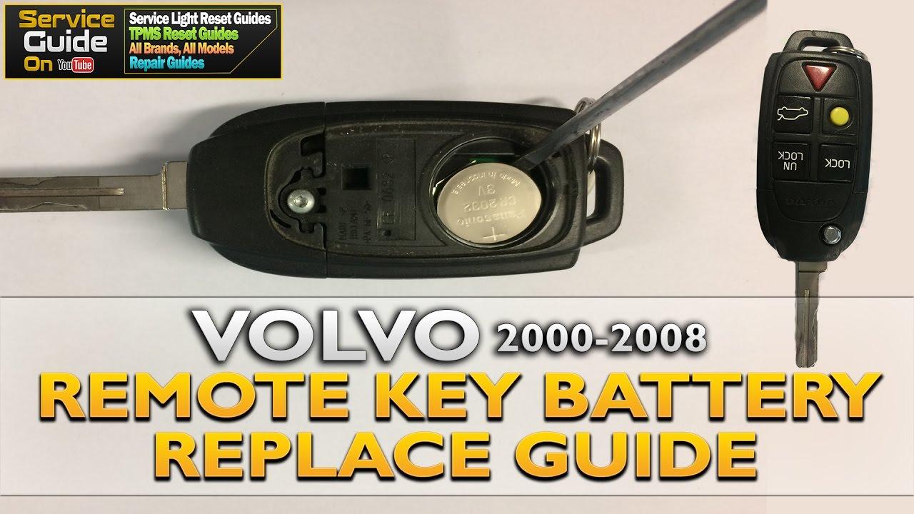 Volvo Remote Key Battery Change - YouTube