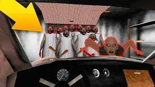CRASHED INTO 100 CLONES GRANNY BY CAR! - Granny