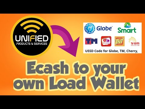 Ecash Fund transfer to your own Load wallet