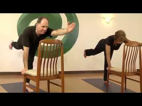 Chair Yoga - Standing Sunbird/Bird Dog Variation with Steve Wolf E-RYT 500
