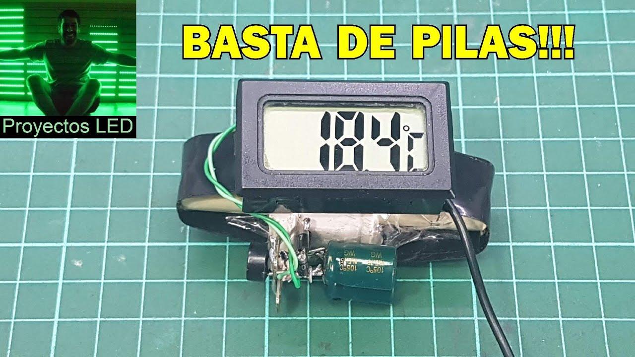 Basta de pilas. Termometro digital sin pilas!!!