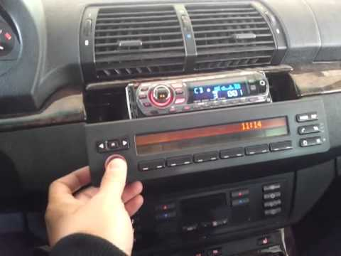 Installing aftermarket HU in BMW retaining DSP amp - YouTube