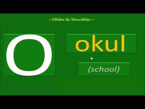 2- Alfabeyle Sözcükler (Words with Turkish Alphabet)