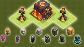 MAUER LEVEL 1 BIS MAXED?! || CLASH OF CLANS - Troll Account [HD+]