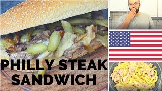 Quick and Easy  4th Of July  Philly Steak Sandwich