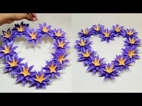 DIY Paper Heart Wall Hanging | Wall Hanging Craft Idea | Decoration | Jarine's Crafty Creation