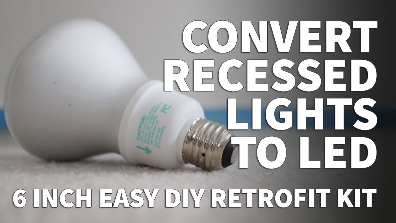 How To Install Retrofit Led Lights 6 Inch Kit Dimmable Recessed Lighting Feit 2700k 3000k