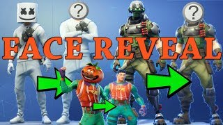 FORTNITE SKIN FACE REVEAL | TECH OPS SET, MARSHMELLO SKIN & MORE