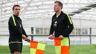 Gary Neville & Jamie Carragher Train to be Linesmen! | The Referees Part 2