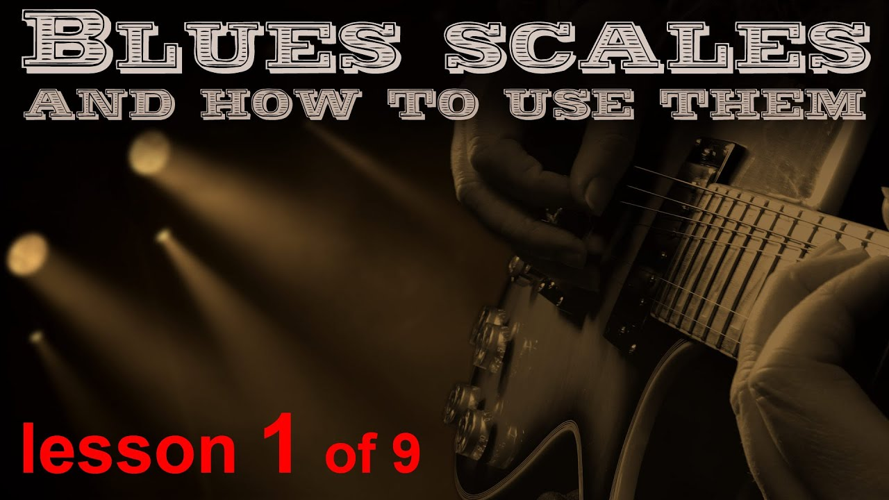 Part 1 of 5, Play the blues scales on guitar. Learn how to