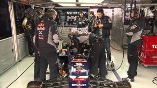 F1 2013 - Red Bull Racing - Barcelona Filming Day behind the scenes (Buemi)