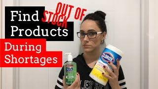 FIND OUT OF STOCK PRODUCTS - PLEASE SHARE! CORONAVIRUS - CLOROX WIPES, LYSOL, PUREL ALCOHOL TUTORIAL