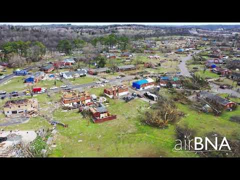 Donelson Christian Academy/Danyacrest Neighborhood Tornado Damage from drone