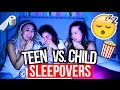 High School Sleepovers Vs. Child Sleepovers! | MyLifeAsEva