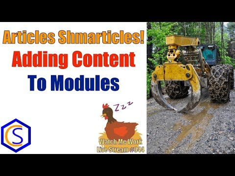 Articles Shmarticles! How To Add Content To Modules In Joomla - 👀 Watch Me Work 044