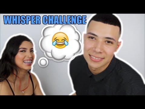 WHISPER CHALLENGE WITH MY GIRLFRIEND LIZETH RAMIREZ