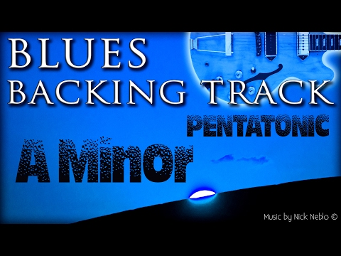 Twelve-Bar Blues Backing Track for A Minor Pentatonic and More Scales