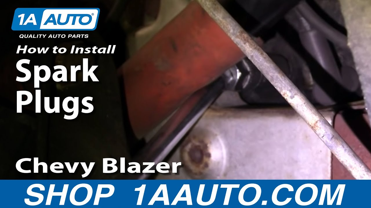 hight resolution of how to replace spark plugs 96 05 chevy blazer s10