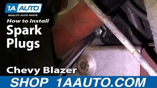 How To Install Replace Spark Plugs Chevy S-10 Pickup Blazer GMC Jimmy 4.3L 1AAuto.com
